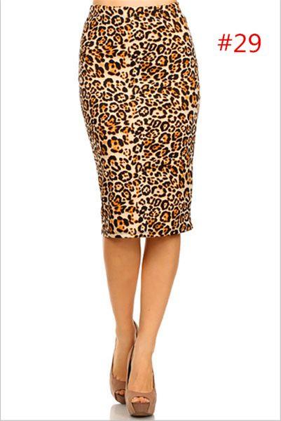 New 20 style women skirt High Waist Knee Length Print Pencil Skirt Summer