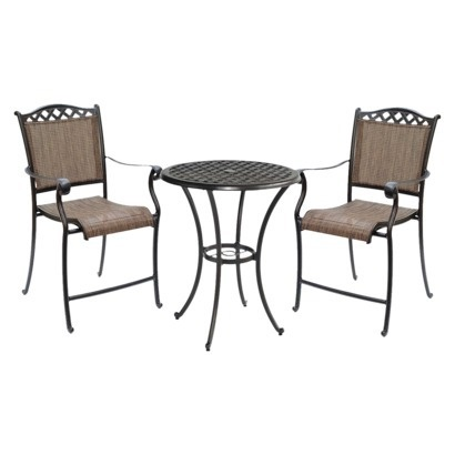 Target Home Villa Sling Patio Bar Height Bistro Set.might Be Nice For Our  Deck.