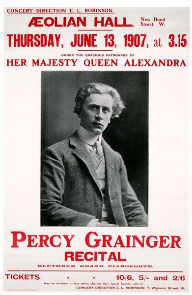 Grainger recital poster