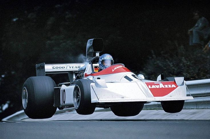 Hans-Joachim Stuck (GER) Lavazza March, March 751 - Ford-Cosworth DFV 3.0 V8 - 1975 German Grand Prix, Nürburgring Nordschleife