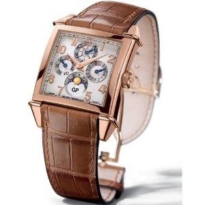 Girard-perregaux Men's 90290-52-111-baca Vintage 1945 Square Calendar Watch  $52,319.99  #girard perregaux watch #luxury watches