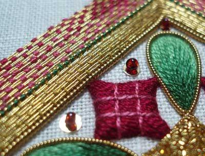 Goldwork & Silk Christmas Ornament, 2008