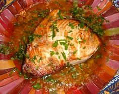 This delicious swordfish recipe with lemon garlic sauce is easy and foolproof.  The oven roasted swordfish is always moist and flavorful, and a perfect seafood dinner for family or guests.
