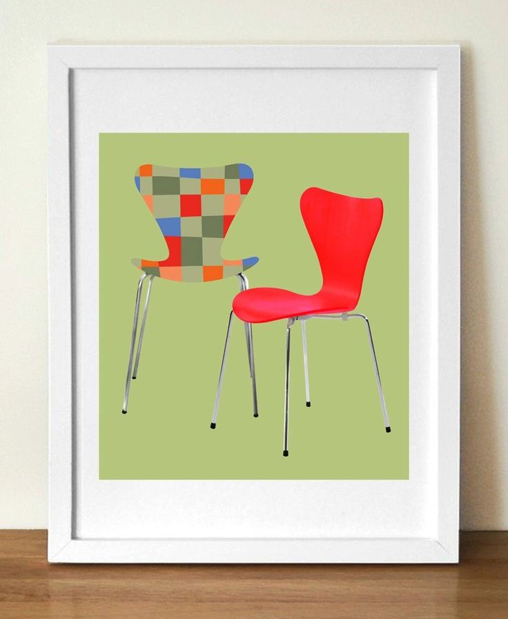 Mid century poster print , JACOBSEN SERIES 7 | Visual Philosophy via Etsy