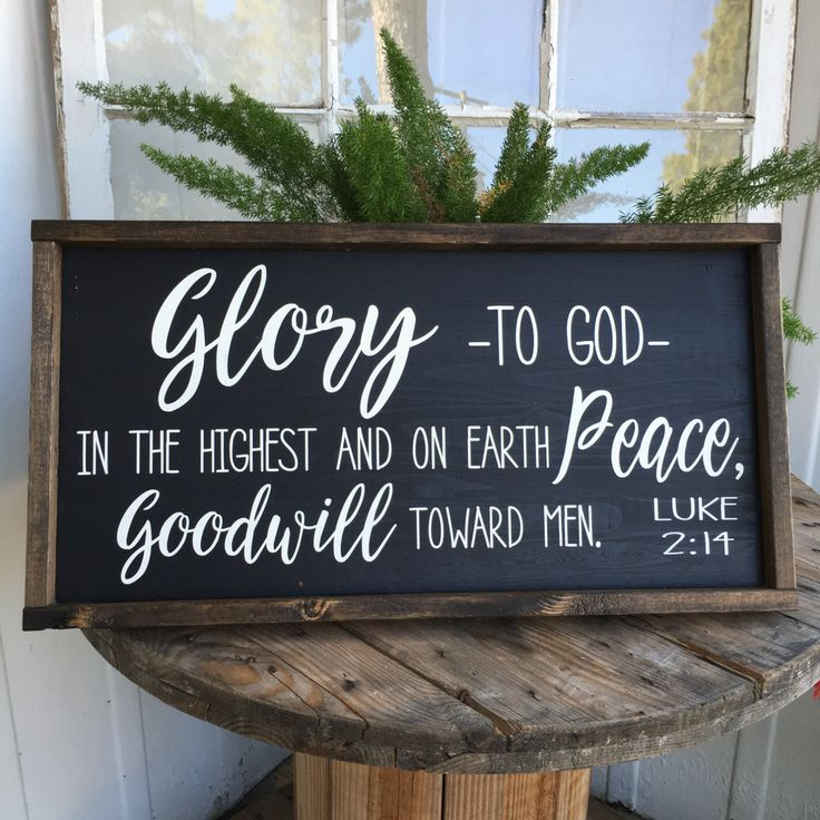 Glory To God In The Highest Sign