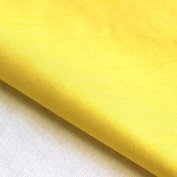 Yellow Art Silk Fabric By The Yard Silk Curtain Fabric Apparel Fabric Silk Dupioni Fabric Indian Silk Fabric By The Yard