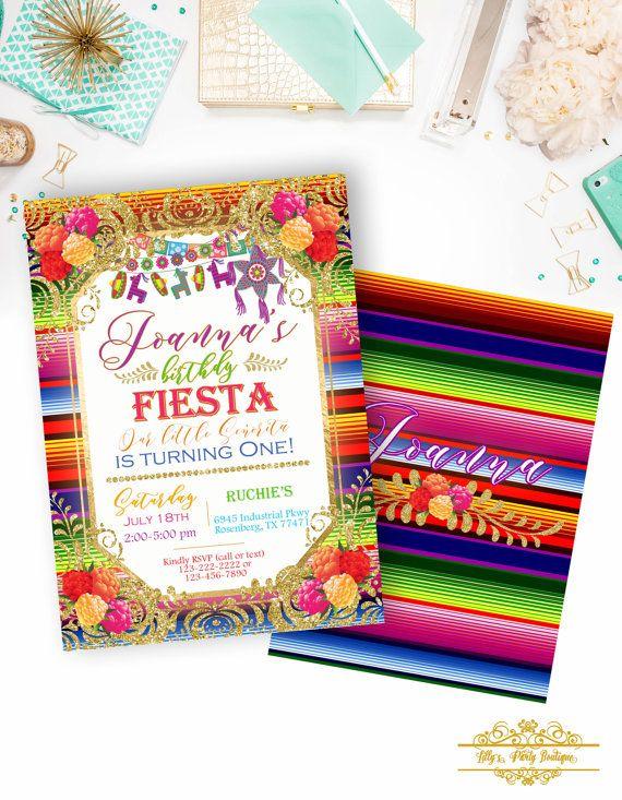 Invitación de Fiesta Mexicana cumpleaños invitación invita a
