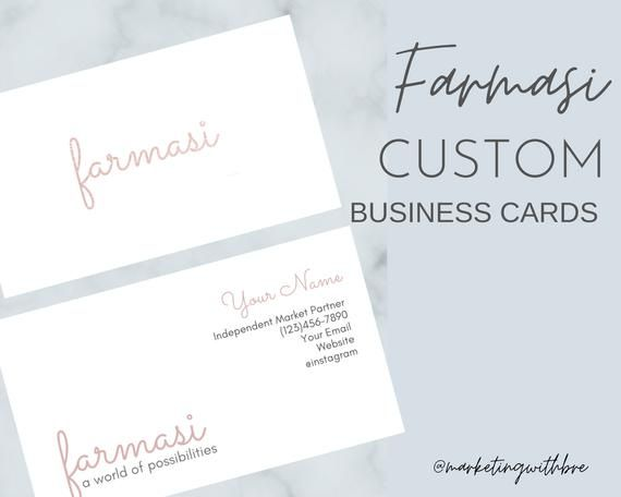 Farmasi Rose Gold Business Cards 500 Business Cards Printed Template Personalized Calling Printing Business Cards Rose Gold Business Card Gold Business Card