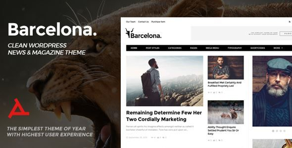 ThemeForest - Barcelona. - Clean News & Magazine WordPress Theme  Free Download