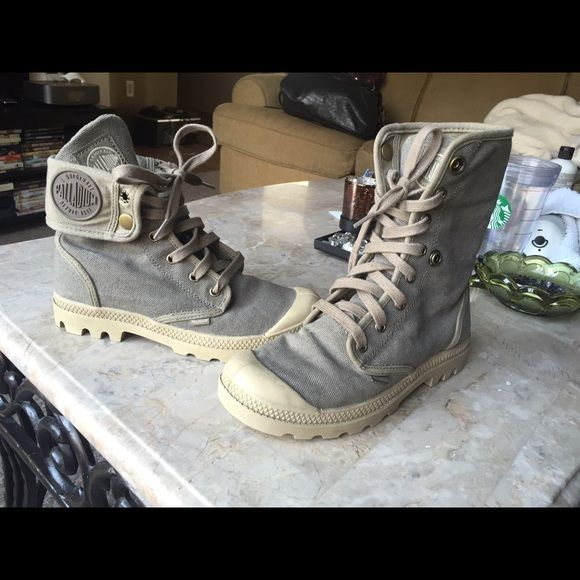 Palladium sneaker boots, tan size 7 Palladium boots worn only 3 times. Look like new. Perfect for everyday wear, hiking, outdoors, urban wear and they are waterproof! Will consider offers Palladium Shoes