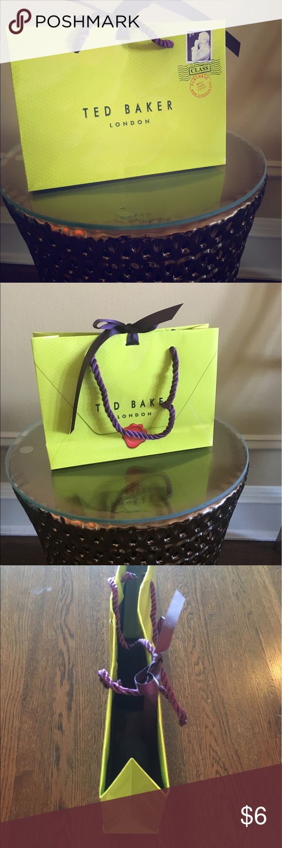 Ted Baker shopping bag Authentic, small Ted Baker shopping bag. Ted Baker London Bags