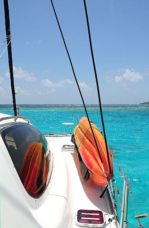 Sailing in the British Virgin Islands from shewearsmanyhats.com