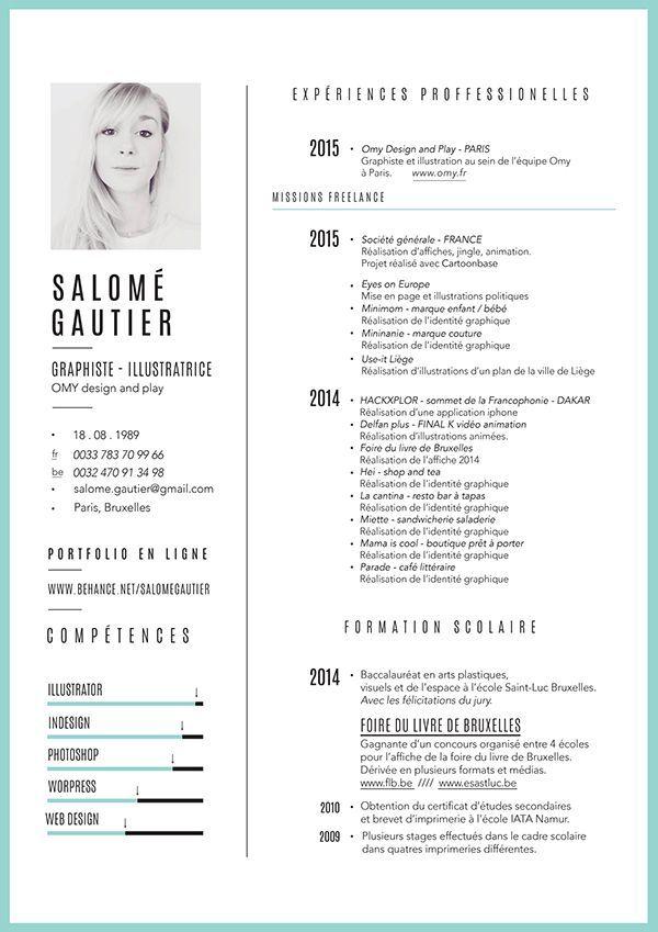 business infographic   curiculum vitae