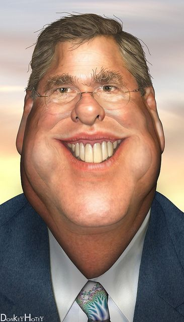 Jeb Bush...FOLLOW THIS BOARD FOR GREAT CARICATURES OF PEOPLE WE KNOW..I'LL BE ADDING NEW PINS DAILY..