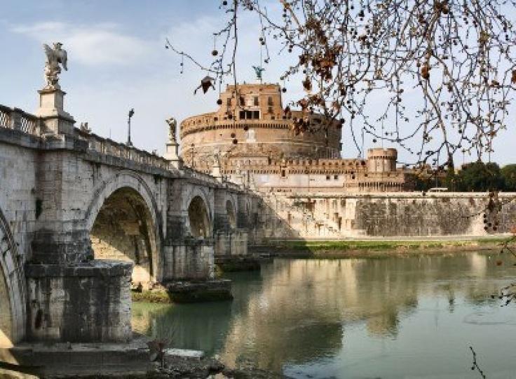 Castel Sant Angelo et le Ponte SantAngelo (château Saint-Ange, pont Saint-Ange), Roma, Italie