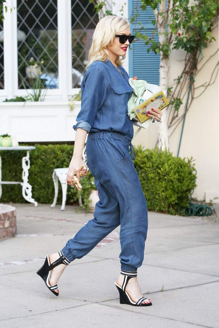Gwen Stefani #idea #jeans #jumpsuit