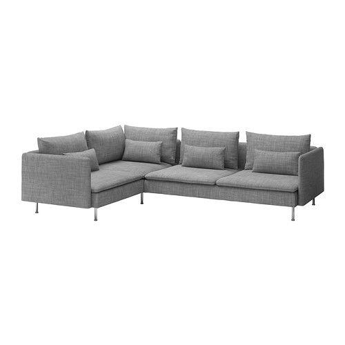 SÖDERHAMN Corner sofa - Isunda grey - IKEA