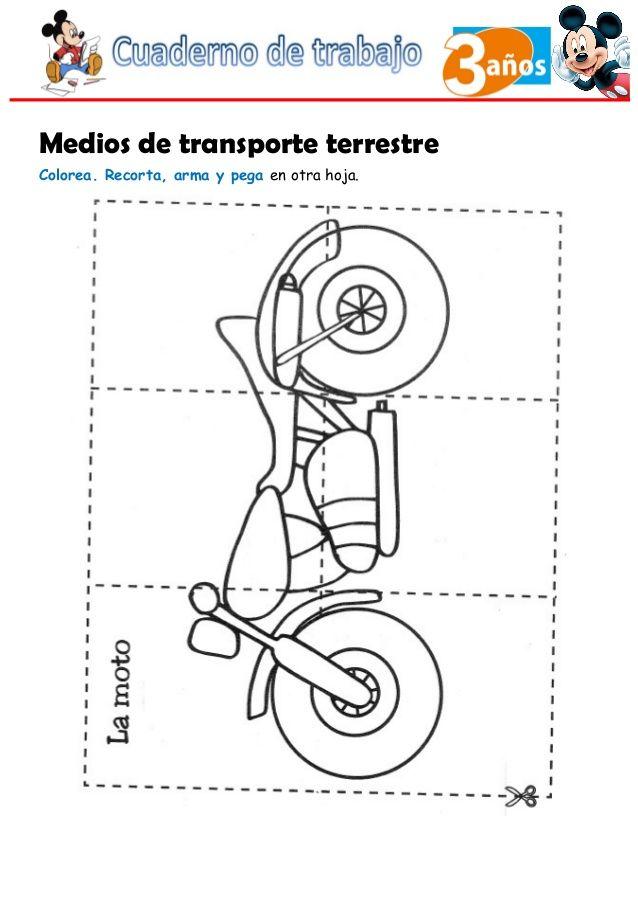 Hermosa Hojas Para Colorear De Transporte Componente - Dibujos Para ...