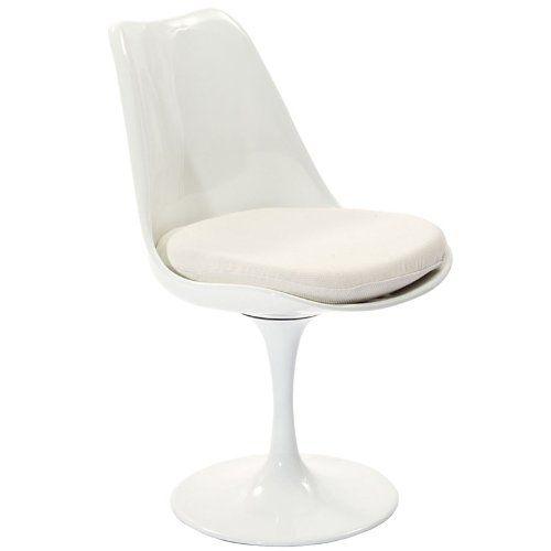 Eero Saarinen Lippa Tulip Dining Chair White AG Modern http://www.amazon.com/dp/B00EPRE6J0/ref=cm_sw_r_pi_dp_nKcTtb0Q4H1PGY78