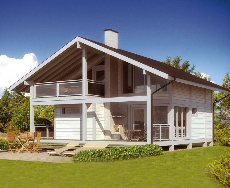 Rodinný dům Projekt Articdům 107 - České dřevěné domy Ecoholzhaus