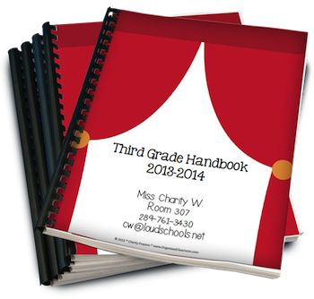 Hollywood Theme Classroom Parent Handbook! Finally! A handbook for your students' PARENTS! This 12-page file can be customized, printed, hole-punched, and placed in a 3-prong folder to hand out on Open House/Curriculum Night or even emailed instead! It answers all the most asked questions, so you don't have to! Make your Open House Night about meeting and greeting, not explaining every classroom detail. This colorful handbook includes the following pages where all text can be changed! $