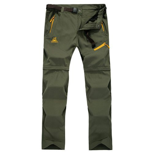 Removable Outdoor Pants Men Big Size Summer Hiking Pants Camping Climbing Trekking Pants Quick Dry Men Sport Trousers HME0164-5