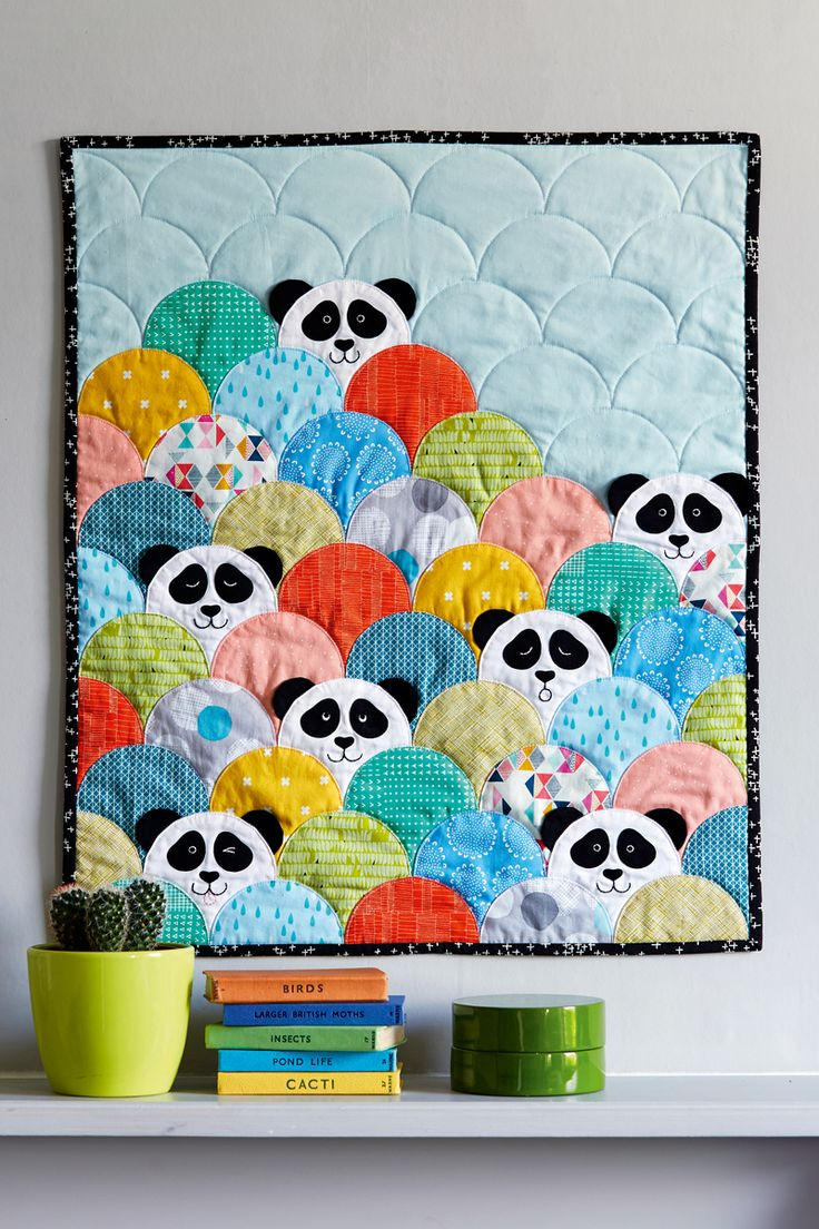Panda clamshell quilt, Issue 41 at Love Patchwork and Quilting