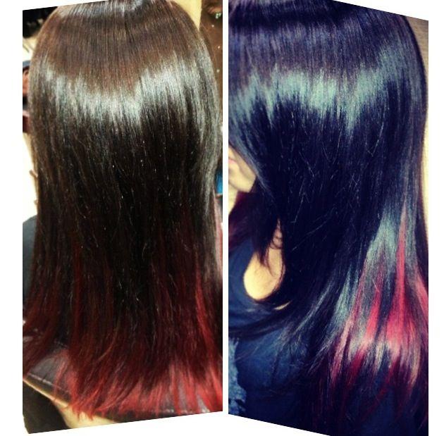 17 Best ideas about Red Hair Underneath on Pinterest | Fall hair colour Aubergine hair color ...