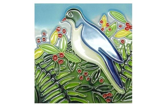 Paua World - Wood Pigeon Ceramic Tile, $17.50 (http://www.pauaworld.com/wood-pigeon-ceramic-tile/)