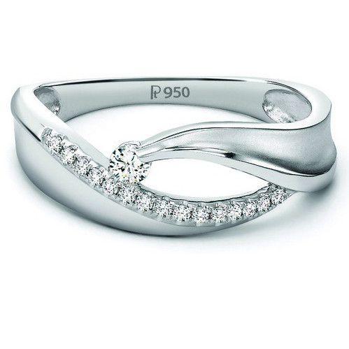 Elegant Platinum Ring with Diamonds by Jewelove JL PT 508