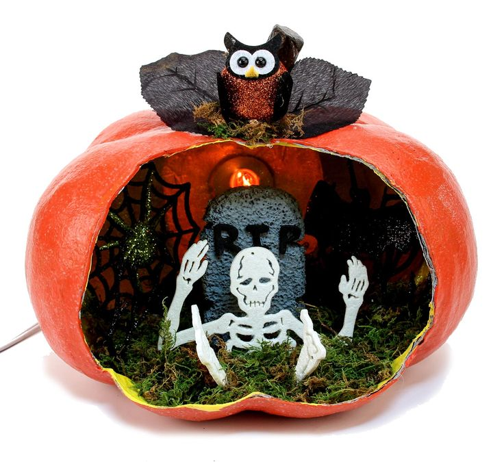 check out nicole crafts pumpkin diorama crafting ideas at a explore many more such exceptional art craft products only here - Halloween Diorama Ideas