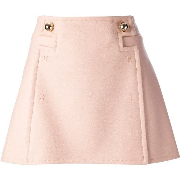 FRANKIE MORELLO a-line skirt ($267) ❤ liked on Polyvore featuring skirts, saias, bottoms, faldas, frankie morello, straight skirt, pink a line skirt, pink skirt and knee length a line skirt