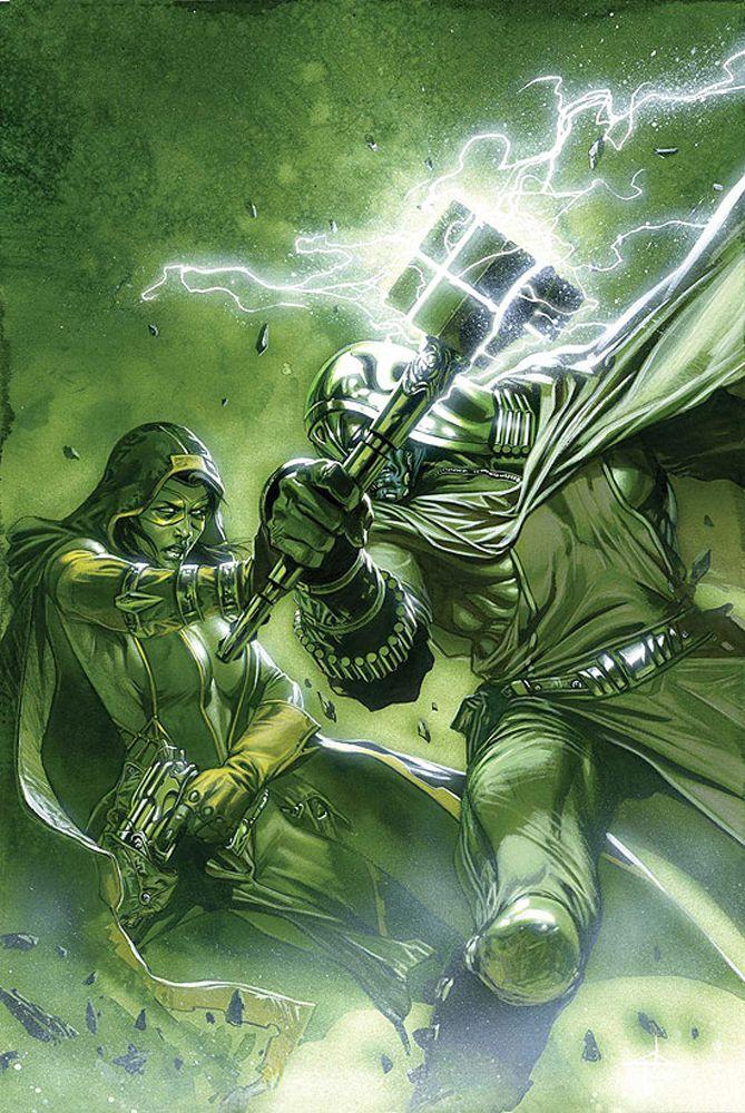 Gamora vs Ronan the Accuser by Gabriele Dell'Otto
