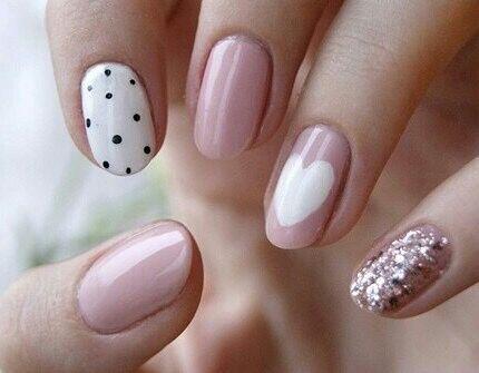 Imagen de nails, pink, and heart