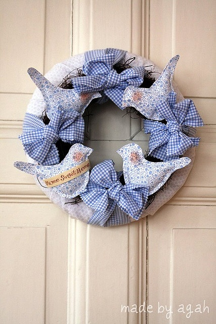 Blue Birds Wreath