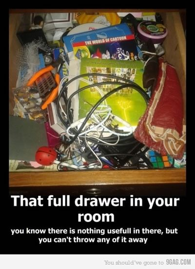 why oh why can't we throw out junk?: Hats Boxes, Funny Image, Tops Drawers, Funny Pics, Funny Stuff, Junk Drawers, So True, True Stories, Crafts Supplies