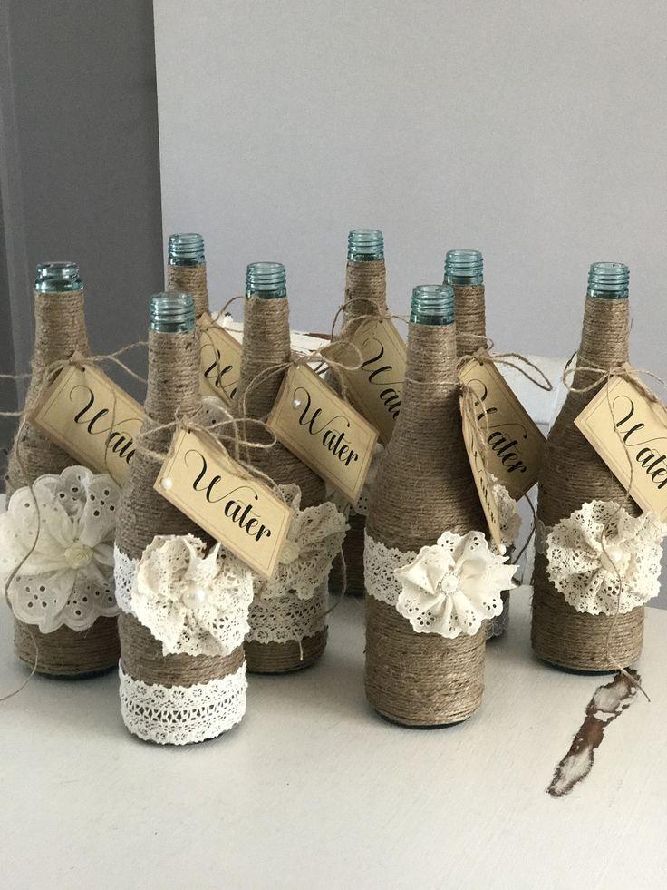 Rustic water bottles