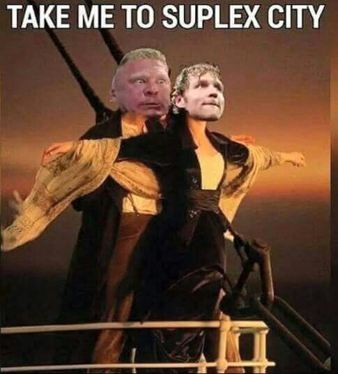 Hahaha xD #DeanAmbrose #BrockLesnar #wwe #suplexcity