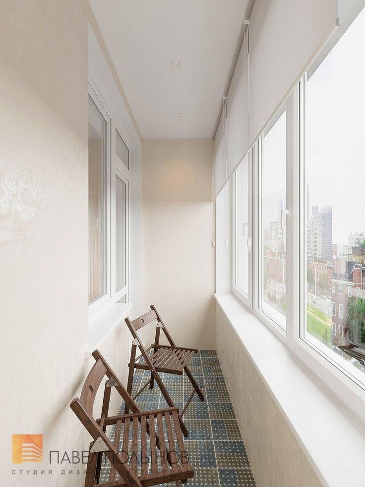Фото: Лоджия - Интерьер однокомнатной квартиры в современном стиле, ЖК «Царская столица»