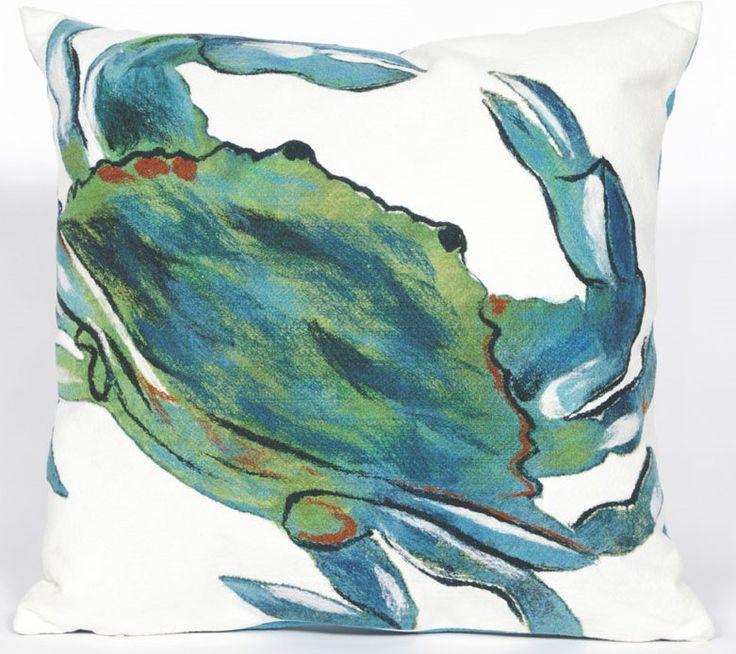 Blue Crab Sea Indoor/Outdoor Pillow