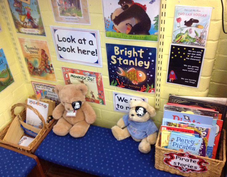 Pirate Reading Bears all ready to read and write! LH