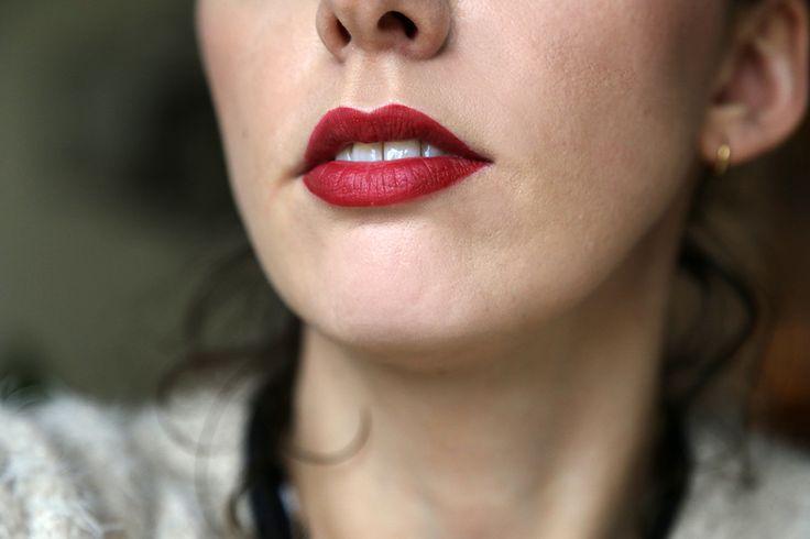 rouge à lèvres sans transfert mat liquide sephora dark red