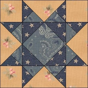 Civil War Quilts: 19 Missouri Star - my Summer quilt pattern.