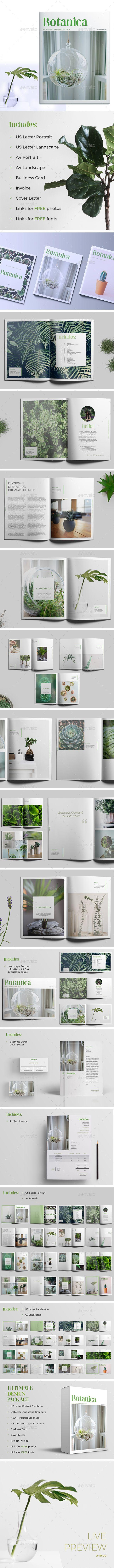 Botanica - Portfolio #Brochures Download here:  https://graphicriver.net/item/botanica/18222580?ref=alena994