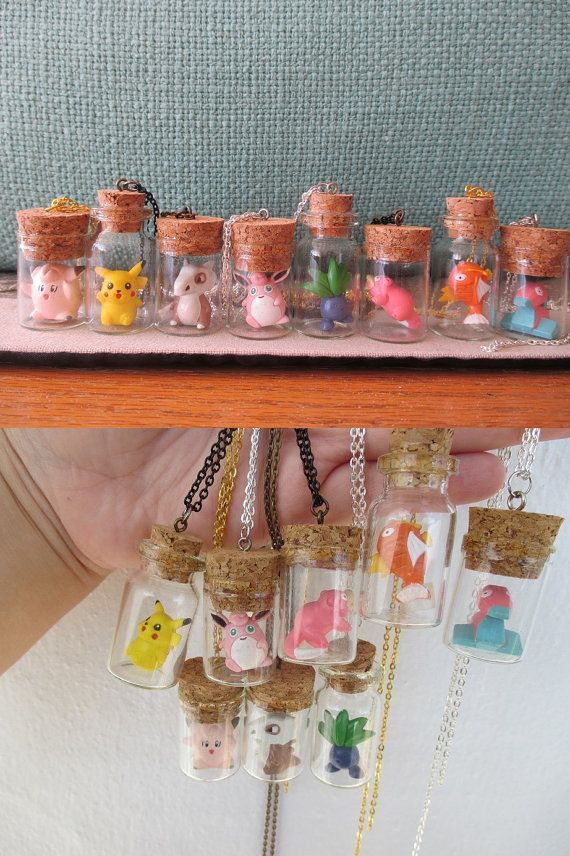 Pokémon Necklaces   Toys in a Bottle  NEW DESIGNS  by GlitzCouture