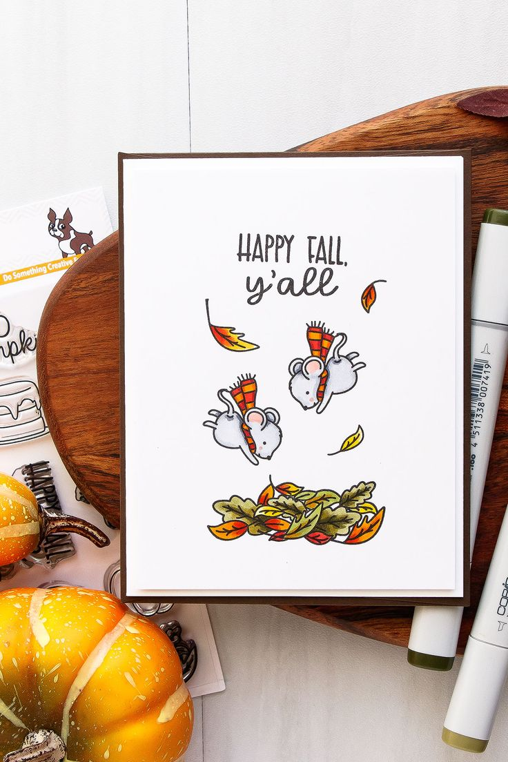 102 Best Cards Fall Thanksgiving Images On Pinterest Handmade
