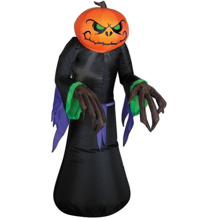 Gemmy 64115 Airblown Outdoor Halloween Pumpkin Reaper, 3.5'