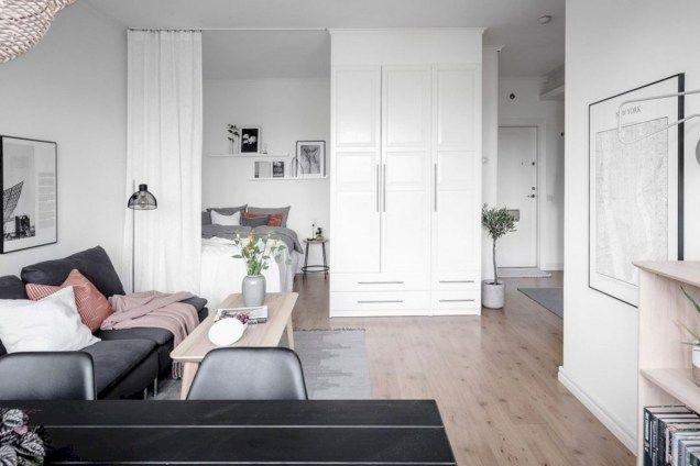 Cozy One Room Flat Coco Lapine Design One Room Flat Apartment Bedroom Decor Apartment Interior
