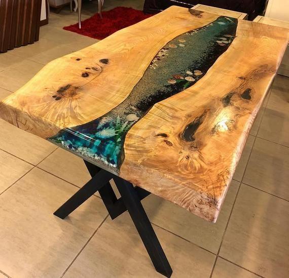 Tisch, epoxidharz asche tisch, harz tisch, einzigartige