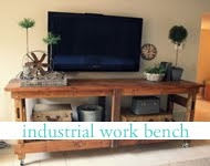 me and jilly: industrial workbench - would be GREAT for the TV and movies downstairs